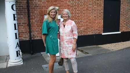 Festival steward and budding author Angie Gosse with Kate Adie