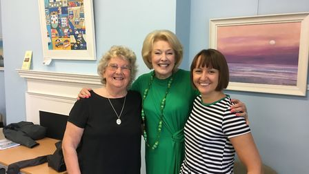 Green Goddess Diana Moran with local poet Jeni Braund and literary editor Katy Loftus