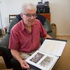 Richard Coley with the Pixie Day scrapbook from 1954. Ref sho 24 18TI 5152. Picture: Terry Ife
