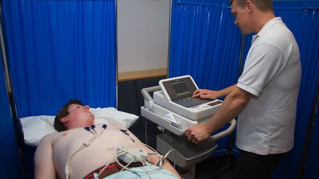 Nick Moran having his CRY screening. Ref shs 21 18TI 4043. Picture: Terry Ife