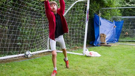 Penalty shoot-out at Sidbury Fete. Ref shs 25 18TI 5761. Picture: Terry Ife