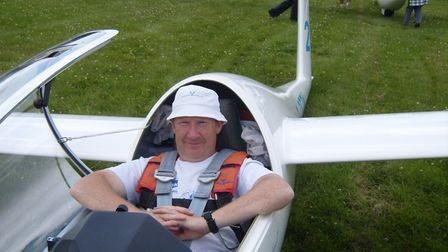 Ottery St Mary glider pilot Pete Startup.