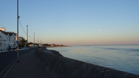 On the evening of Tuesday 26th June 2018, the sea was flat and the skies were clear and moon was out