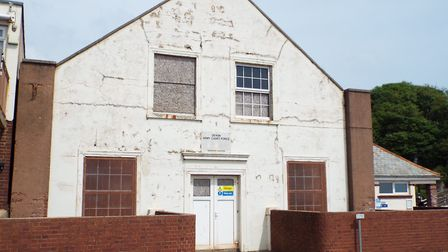 The front of the drill hall has been called untidy and a mess by resident Dave O'Connor.