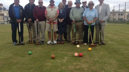 The Clergy on their visit to Sidmouth Croquet Club