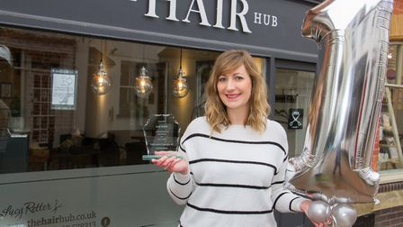 Lucy Retter of The Hair Hub. Ref shs 14 18TI 0521. Picture: Terry Ife