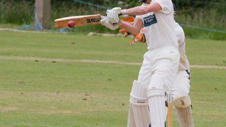 Anthony Griffiths batting for Sidmouth at Ottery. Ref shsp 25 18TI 5797. Picture: Terry Ife