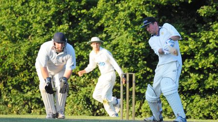 Tipton batsman Dave Alford who top scored with 42 in the defeat at Marldon.