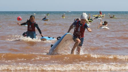 Sidmouth Surf Lifesaving Club Longest Day. U10 winner Ellie Birchall. Picture: Simon Horn