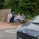 Sidbury residents conducting a traffic survey. Ref shs 28 18TI 7751. Picture: Terry Ife