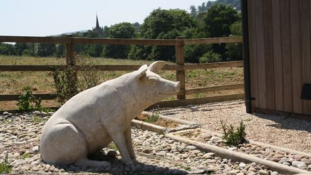 The old piggery is now an upmarket holiday let
