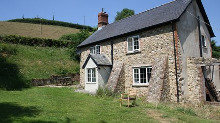 The cottage at Lower Sweetcombe that was flooded