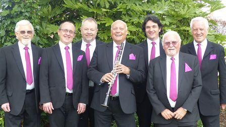 Pete Allen, centre, and his Jazz Hot Seven band