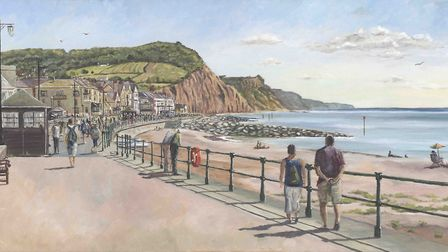 Sunny Sidmouth, painted by local artist Neil Hampson