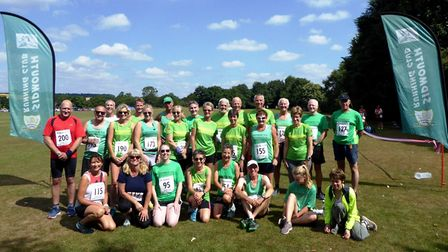 The Mighty Green team at the Otter Rail River Run.