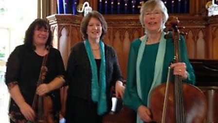 The Beacon Trio - (l to r) Anna Cockroft, violin; Joyce Clarke, piano; Ruth Lass, cello. Picture: Co