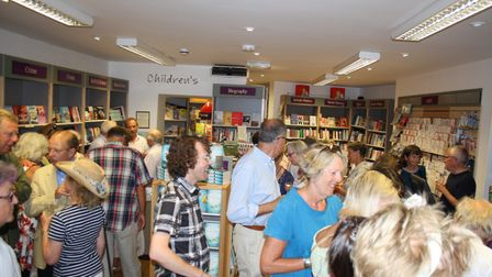 Jane Corry signs copies of her new novel at Winstones