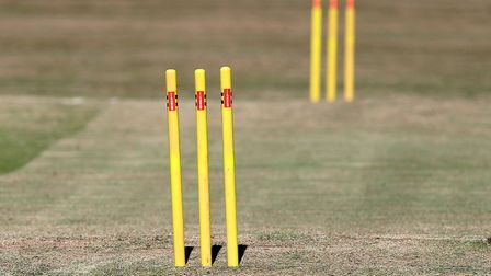 Cricket stumps in place ready for play (pic Gavin Ellis/TGS Photo)