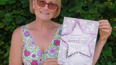 Beverley Wilkins-Wall is named one of Sidmouth Slimming World's diamond members of the year after ma