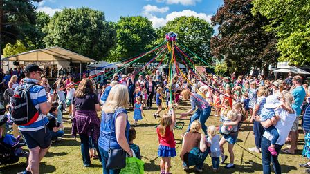 Who says it's too late in the year for a maypole? Plenty of outdoor family entertainment at Folk Wee