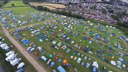 Plenty of space for camping at FolkWeek