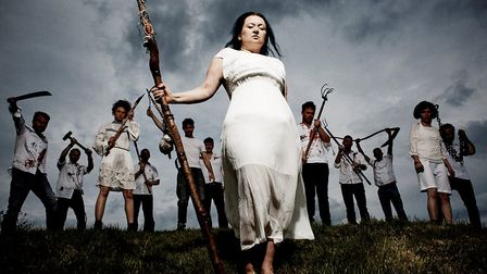 Eliza Carthy at the Ham marquee on Monday evening at Sidmouth folk festival. Photo by Terry Ife ref