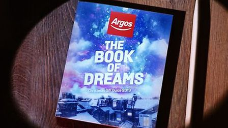 The new Argos Catalogue appears in a television advert. Photograph: Argos.