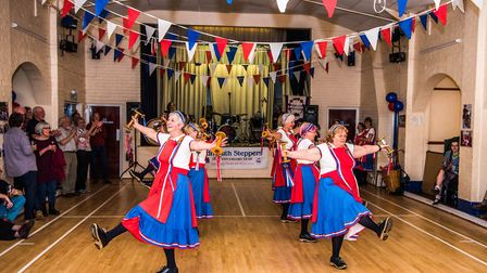 Sidmouth Steppers celebrate