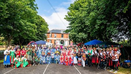 Dance teams from near and far at Kennaway House