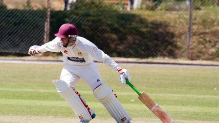 Elliot Rice batting for Sidmouth 2nds against Alphington. Ref shsp 30 18TI 8399. Picture: Terry Ife