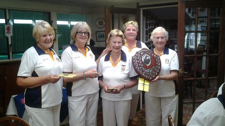 The Sidmouth team that won the Spears Trophy, bringing the trophy back to the club for the first tim