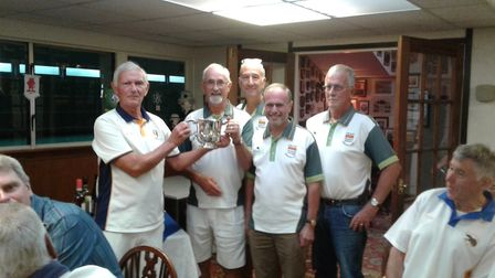 The Lyme Regis team that won the Jubilee Cup at Sidmouth. Picture CONTRIBUTED