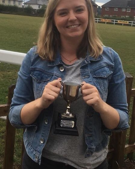 Rosie Bennett of Beer Blazers. Rosie was named Umpire of the Year by the Honiton Netball League.
