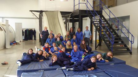 1st Sidmouth Guides and Sidmouth Rangers visit Flybe's Training Academy where they took part in a pr