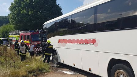 Coach fire at Bulverton Park. Picture: Sidmouth Fire Station
