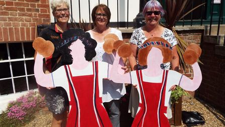 Alexa Baker, Ruth Lewis and Maggi Lambert from the Sidmouth Steppers.