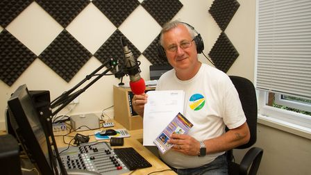 Bob Weeks of Sid Valley Radio with his letter from Ofcom. Ref shs 28 18TI 7591. Picture: Terry Ife
