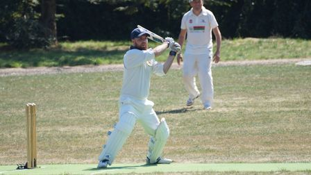 Tom Birch during his innings of 77, his higherst knock for the club to date, scored in the game at E