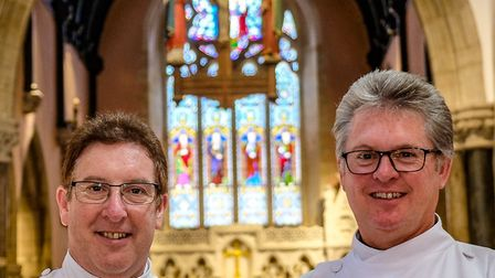 The Rev Canon Dr Phillip Bourne and the Rev Robert Chavner