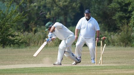 Tipton batsman Mark Channon is bowled in the game against Bakers. Picture PHIL WRIGHT