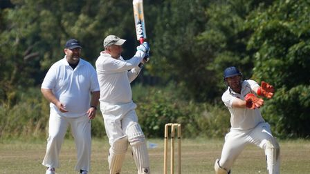 Tipton batsman Phil Tolley who scored 72 of the team total of 97 all out in the one wicket defeat to