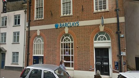 Barclays in Sidmouth is the latest bank to close in Sidmouth. Picture: Google Street view