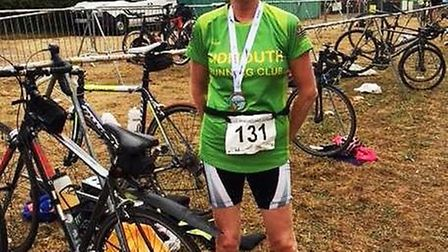 Jane Hemsworth at the Cotswold Lake 62 Triathlon. Picture CONTRIBUTED