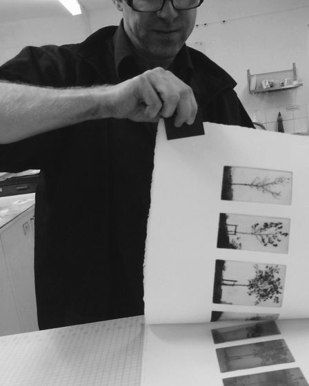 Richard Kaye, printing. Picture: Contributed