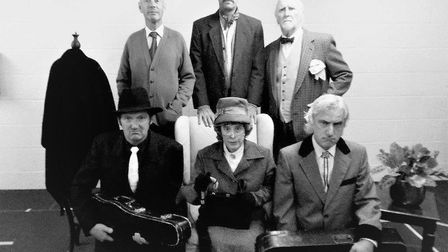 The cast of The Ladykillers in rehearsal. Picture: Contributed