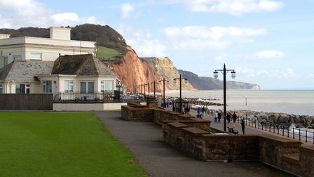 Sidmouth cricket club's boundary. Ref shs 12-17TI 9208. Picture: Terry Ife