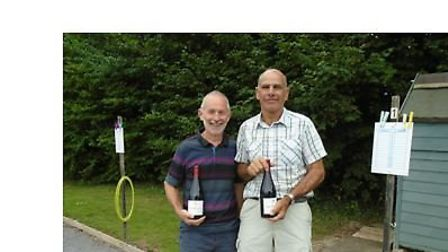 The winners of the East Devon Petanque Club annual doubles competition, Martin Ord and Mike Franks.