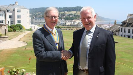 New president John Kinch with the outgoing president Stephen Gunnell. Picture: Contributed