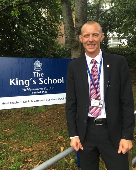 The King's School head teacher Robert Gammon. Picture: Philippa Davies