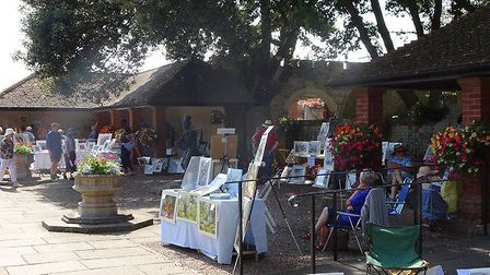 Sidmouth Society of Artists holds an annual open-air exhibition of its members' work. Picture: Contr